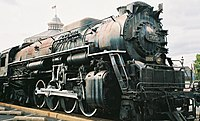 """Big Mike"" Nr. 2705, gebaut 1943, im Baltimore&Ohio-Museum in Baltimore (Maryland)"
