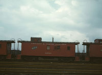Caboose at Proviso yard, Chicago,1943